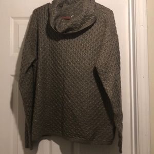 Sonoma sweater XL tan and metallic